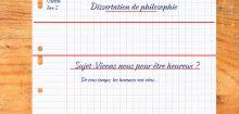 Dissertation philosophie, la bonne problématique