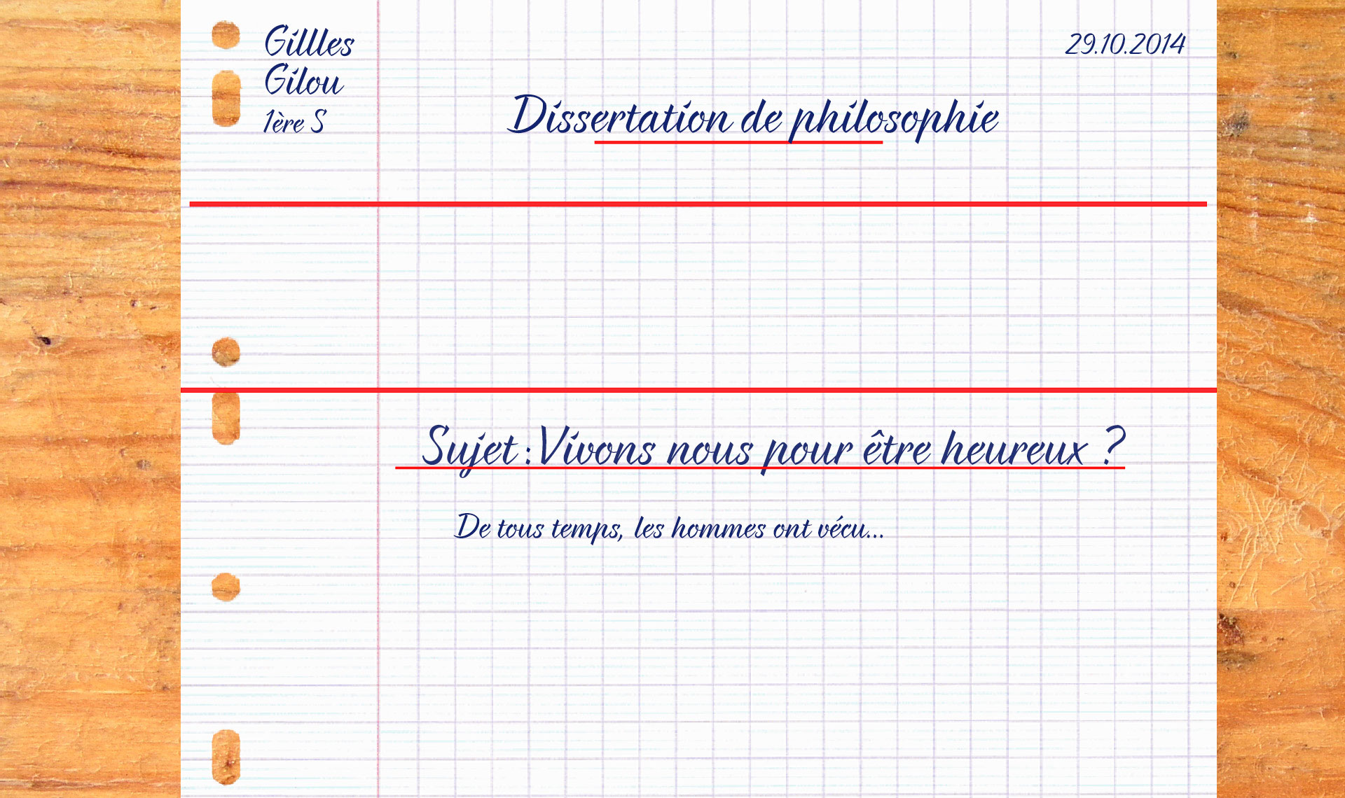 Dissertation De Philosophie Exemple
