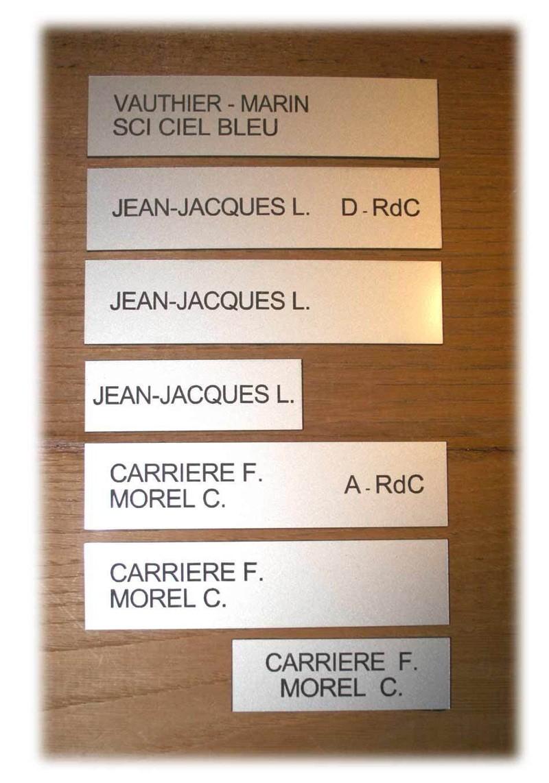 Rédiger le texte de sa plaque de boîte aux lettres